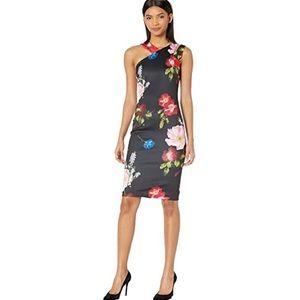 Ted Baker Polayo Floral Asymmetrical Dress NEW NWT